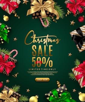Banner de ventas de navidad
