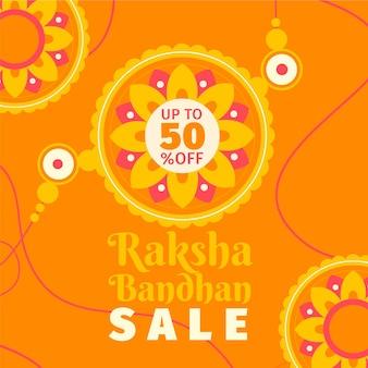 Banner de ventas de raksha bandhan