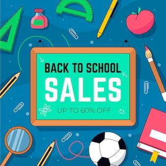 Banner de ventas de regreso a la escuela