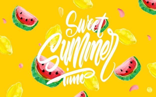 Banner de verano dulce