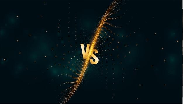Banner versus vs screen para comparación o batalla deportiva