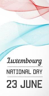 Banner vertical del día nacional del país en vector de estilo de líneas de fusión con fecha