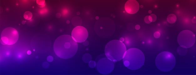 Banner vibrante de luces brillantes de bokeh brillante