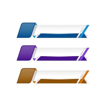 Banner de video de redes sociales de tercera etiqueta inferior