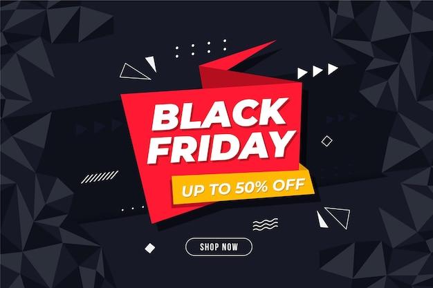 Banner de viernes negro con oferta