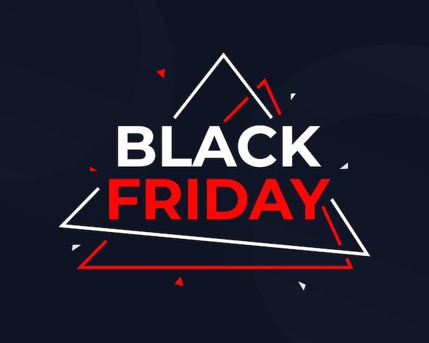 Banner de viernes negro con triángulo