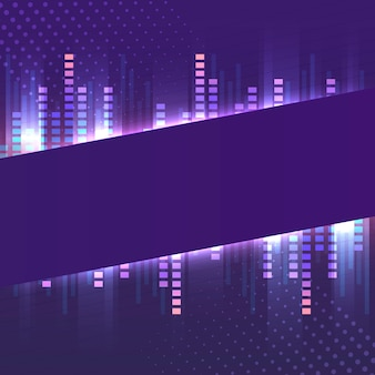 Banner violeta en blanco vector de letrero de neón