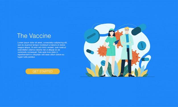 Banner de virus de medicina de vacunas
