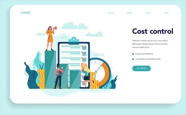 Banner de web de concepto de economistas o página de destino