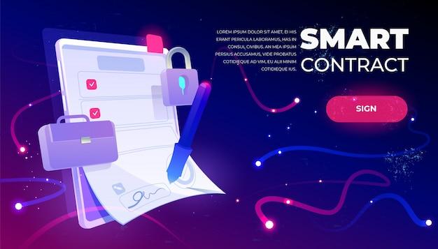 Banner web de contrato inteligente
