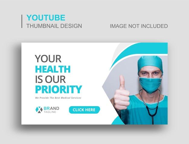 Banner web y diseño de miniaturas de youtube de atención médica médica