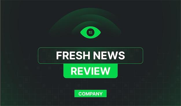Banner de web de empresa diaria de revisión de noticias frescas