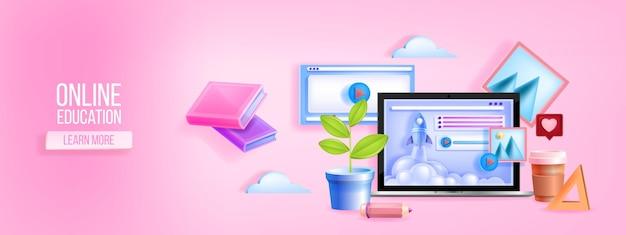 Banner web de escuela digital