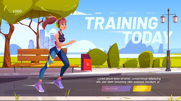 Banner web de formación hoy vector gratuito