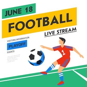 Banner web de fútbol