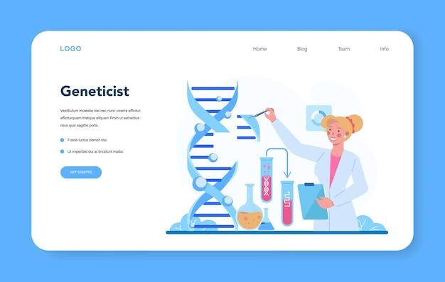 Banner web de genetista o página de destino
