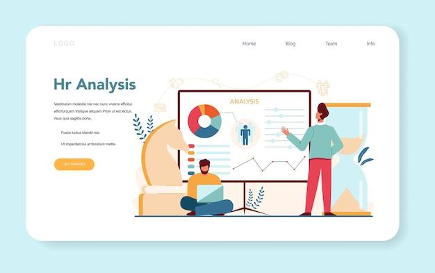 Banner web de gerente de recursos humanos o página de destino.
