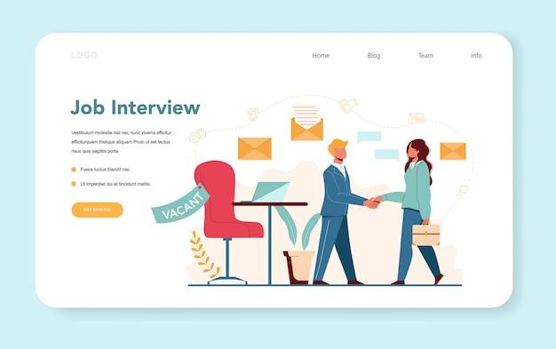 Banner web de gerente de recursos humanos o página de destino