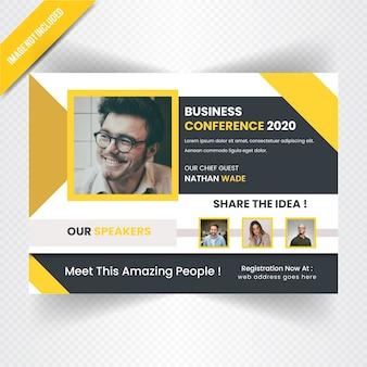Banner web horizontal de conferance