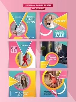 Banner web de moda para redes sociales.