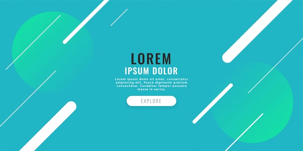 Banner web moderno con fondo de líneas diagonales