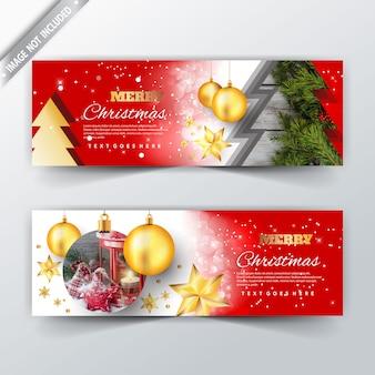 Banner de web de navidad