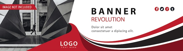 Banner web de negocios rojo