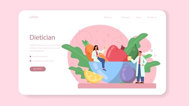 Banner web de nutricionista o página de destino