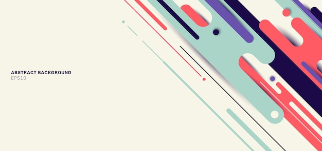 Banner web plantilla dinámica líneas redondeadas patrón fondo geométrico