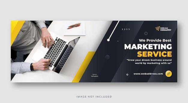 Banner de web de portada de facebook de negocios de marketing