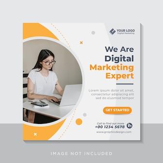 Banner de web de publicación de redes sociales de agencia de marketing de negocios digitales