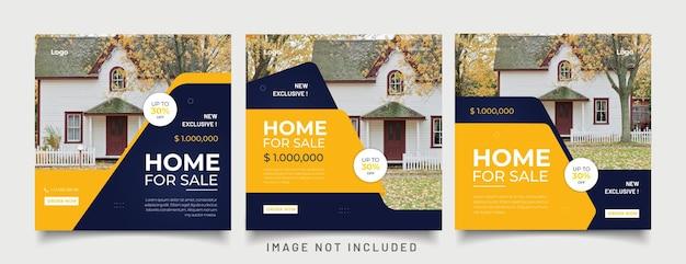 Banner de web de publicación de redes sociales de instagram de bienes raíces