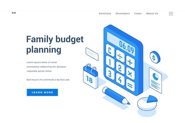 Banner web para el servicio de planificación del presupuesto familiar