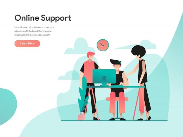 Banner de web de soporte en línea