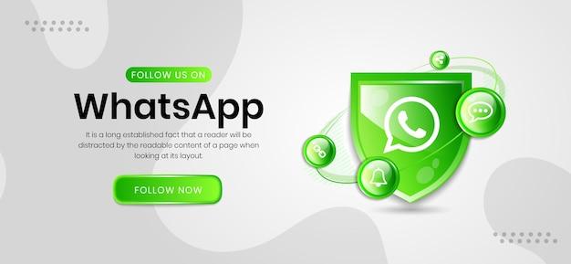 Banner de whatsapp de los iconos de redes sociales