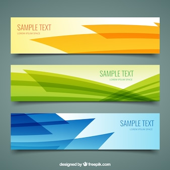 Banners abstractas paquete
