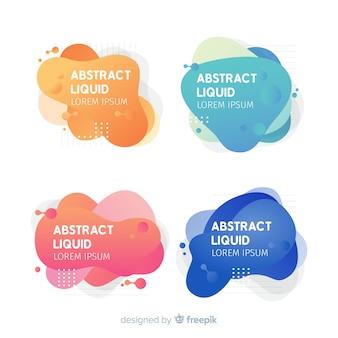 Banners abstracto de efecto líquido