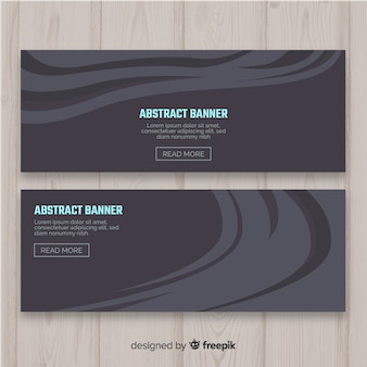 Banners abstracto con forma ondulada