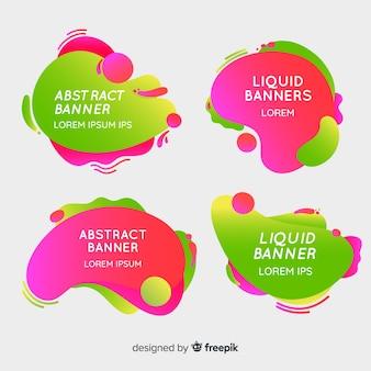 Banners abstracto de formas líquidas