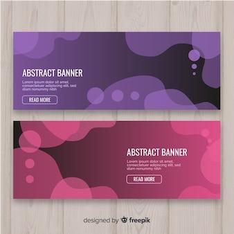 Banners abstracto con formas orgánicas