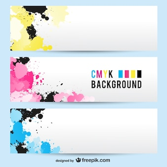 Banners abstractos cmyk
