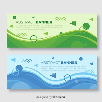 Banners abstractos con diseño geométrico