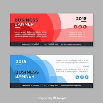 Banners abstractos de negocios