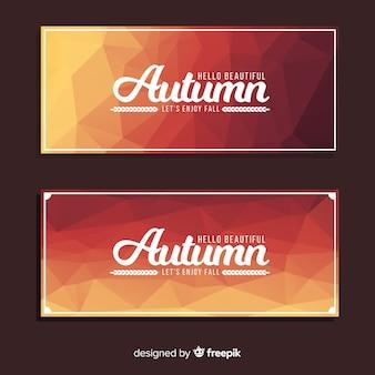 Banners abstractos de otoño