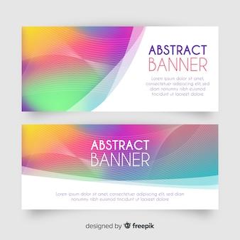 Banners abstractos con estilo de degradado