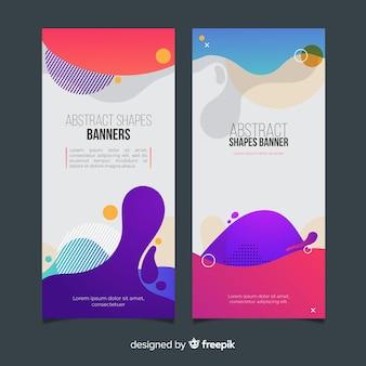Banners abstractos con formas orgánicas