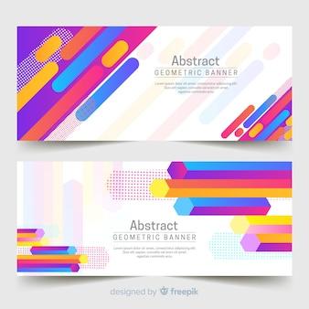 Banners abstractos y geométricos