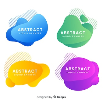 Banners abstractos con líquidos