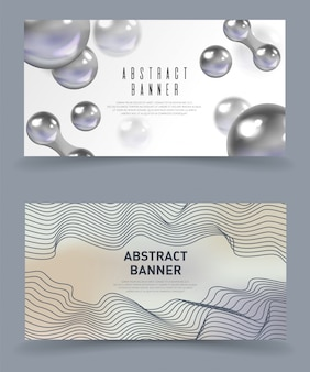 Banners abstractos, modernos, futuristas.