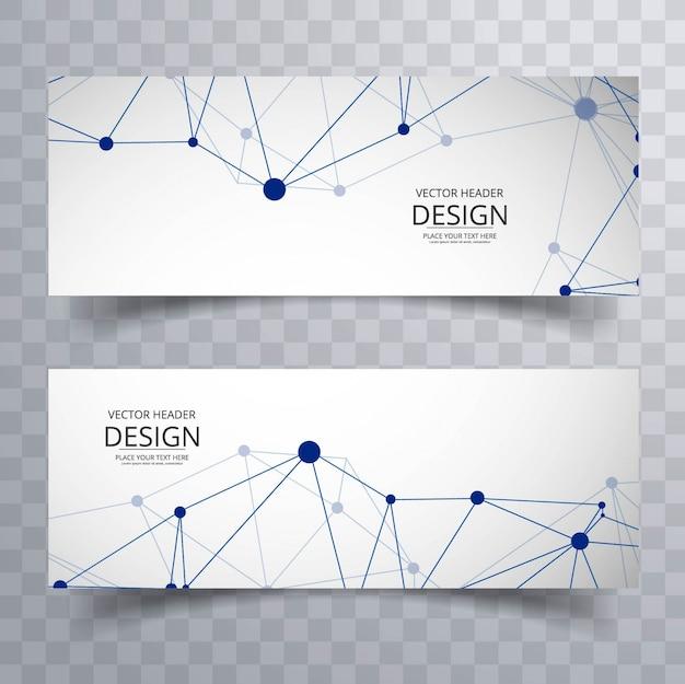 Banners abstractos de tecnología